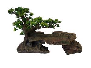 HERITAGE CH076 AQUARIUM FISH TANK STEPPED ROCK ORNAMENT TREE HIDE CAVE TURTLE