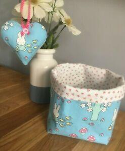 Miffy Fabric Basket & Heart - Nursery, Children, Storage, Handmade