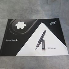 MontBlanc M by Marc Newson writing Instruments pen Collection catalog brochure