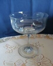Vintage Glass Champagne Cocktail Coupe Saucer With Twisted Stem