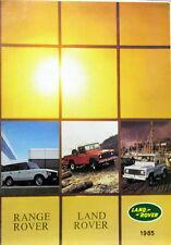 1985 LAND ROVER ET RANGE ROVER  DEPLIANT