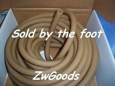 """3/8"""" I.D x 1/8"""" w x 5/8"""" O.D Natural Latex Rubber Tubing By The Foot Heavy Duty"""