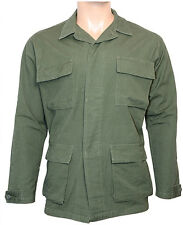Olive Green Camo Ripstop Field Jacket - Army Military BDU 100% Cotton New
