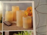 Home Interiors Retired Remote Control Frameless Candles 3/4 Faux Candles NIB