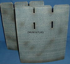 CURVED CASTLE WALLS. SPARES FROM PLAY ALONG HELMS DEEP SET. LOTR AOME 260mm Tall
