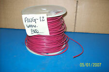 SOLID COPPER VW-1 E-23919-W 12 AWG 600 VOLT 400' RED