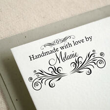 Personalized Custom Made Rubber Stamp Handle Mounted Handmade By Crafted RE606