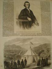 El reverendo John battenbury presidente Wesleyan metodista sociedad 1861 antiguos impresión