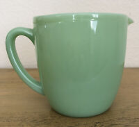 Vintage Fire King Jadeite Pitcher Oven Ware 4 3/8 Inches Tall