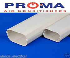 Brand New Air Conditioner Wall Duct Cover PVC Duct Split System 100mm 2m Length