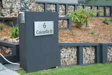 Stainless Steel Custom Made House Number Sign Laser Cut Plaque Sign Business