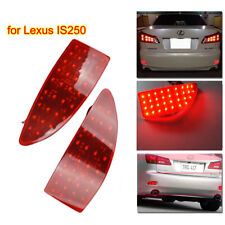 2Pcs for LEXUS IS250 IS350 220d Red LED Rear Bumper Reflector Brake Stop Lights