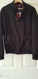 ZARA Man black cotton lined bomber jacket. Size Medium. Excellent condition!