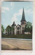 1916 POSTCARD - ST. JOHN's M.E. CHURCH - NEWBURGH-ON-HUDSON NEW YORK