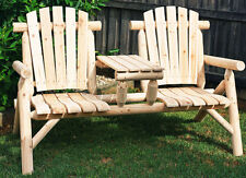Sorrento Outdoor Furniture Adirondack Jack and Jill Two Person Chair Natural