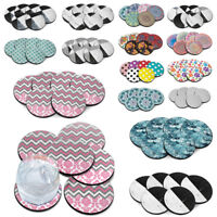 6 PCS Set Marble ROUND Neoprene Fabric Felt Coasters For Cup Holder Decoration
