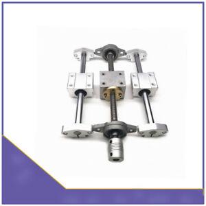 T8 Dual Lead Screw Rod OD8 Linear Rail Optical Axis With Horizontal Bearing Set