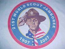 21st World Scout Jamboree 1907 2007 Men Blue Crew Neck T-shirt XL New NWT