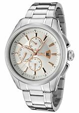 NEW Invicta 1481 Mens Specialty Month Day Date GMT Sliver Dial SS Bracelet Watch