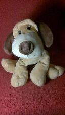 """15"""" FLOPPY SOFT BIG FEET PUPPY HOUND DOG brown tan plush stuffed ANIMAL TOY"""