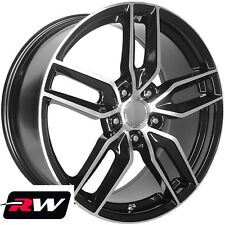"18"" / 19"" inch Wheels for Chevy Corvette C5 1997-2004 Black Machined C7 Z51 Rims"