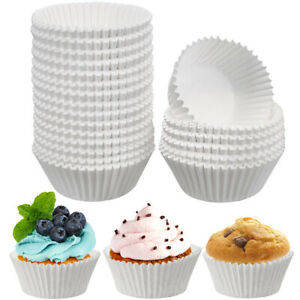 500Pcs/Lot White Cupcake Liners Paper Cup Cake Baking Cup Muffin Cases Cake Mold