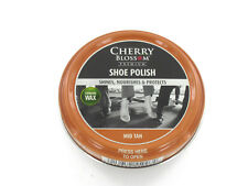 CHERRY BLOSSOM TRADITIONAL SHOE POLISH MID BROWN PASTE 50ML TIN