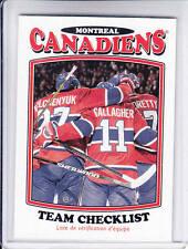 16/17 OPC Montreal Canadiens Retro Team Checklist card #631
