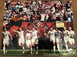 Carli Lloyd Signed Autograph 16x20 Metallic Photo 2015 World Cup Steiner 21/50