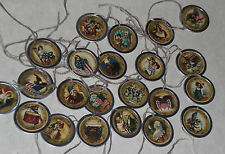 10 Assorted Primitive Americana July 4 Patriotic Metal Rim Hang Tags Ornies