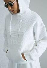 ADIDAS Originals  Womens Trefoil Hoodie White