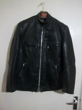 VINTAGE 70'S BRIMACO LEATHER MOTORCYCLE CAFE RACER JACKET SIZE S