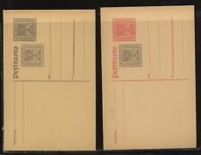 Austria   2  double embossed postal  cards         unused      MS1103