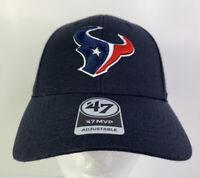 NEW Houston Texans NFL '47 MVP Brand Adjustable Black Cap/Hat Adults - One Size