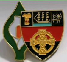 Irish County Easter Lily Pin Badge Irish GAA Republican 1916 Down crest.