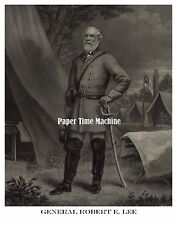 Confederate General Robert E. Lee Standing In Camp Remastered Fine Art Print