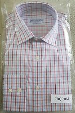 James Meade, Long Sleeve, Shirt. White, Red & Blue Check. Medium. 100% Cotton