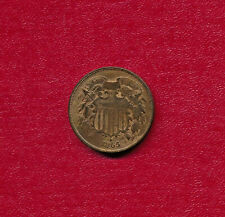 1865 TWO CENT PIECE **CHOICE VERY FINE** FREE SHIPPING!!