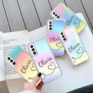 PERSONALISED MARBLE GEL Case Cover For Samsung S21 Plus Ultra 205