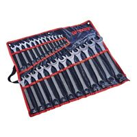 Spanner Set Combination 25pc 6-32mm Metric Wrench Combo Heavy Duty Chrome Vanadi