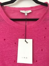 Iro Pink Distressed T-Shirt Size S RRP £115