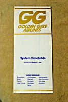 Golden Gate Airlines System Timetable - Mar 1, 1981