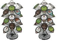 2 x Keurig VUE 24 Coffee Pack Holder Chrome Lazy Susan CAROUSEL New In Box x 2