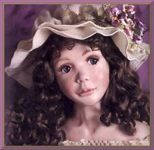 """Holly Head Mold & Holly/ Ivy Shoulderplate Mold by Klowns by Kay for a 37"""" Doll"""