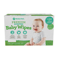 12 packs of 96ct Member's Mark Premium Scented Baby Wipes (1152 ct.)