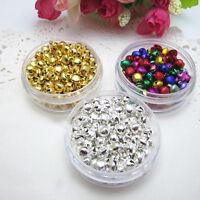 100Pcs Loose Beads Mini Jingle Bells Christmas Decor Xmas DIY Craft Factory Sale
