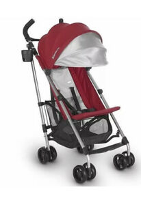 UPPAbaby 2020 G-LITE Single Seat Baby Stroller in Denny (Red / Silver)