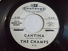 The Champs Cantina / Panic Button 45 1961 Challenge Promo Vinyl Record