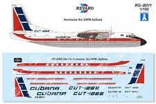 Revaro Decal An-24Rv Cubana for Veb Plasticart 1/100
