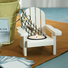 Wooden Deck Chair Nautical Beach Theme Candle Holders Wedding Favors
